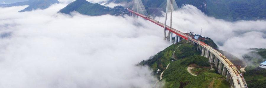 Construyen en China el puente más alto del mundo